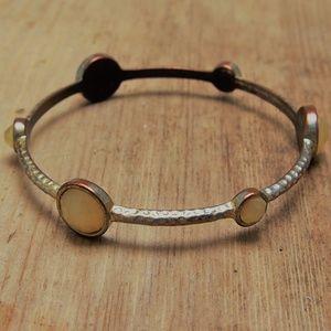 Fab Vintage Copper Glass Cabochon Bracelet